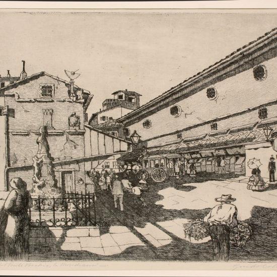 Firenze - Sul Ponte Vecchio la Meridiana