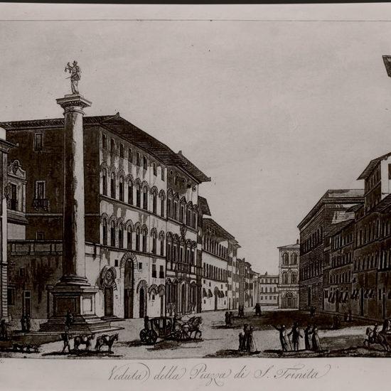 Veduta della Piazza di S. Trinita, 1801-1803